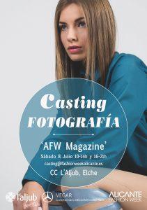Cartel Casting Fotografía AFW17 I